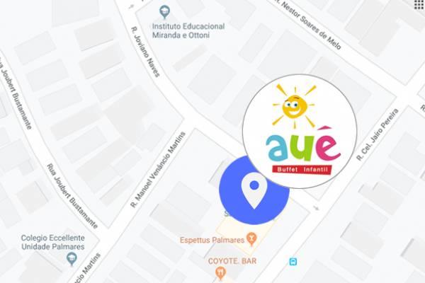 Localização Auê Buffet Infantil